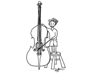 joueur de violoncelle-illustration Amélie Jeanne Frençois